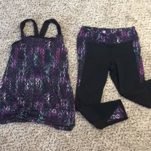 Yoga Pant and Tank Set